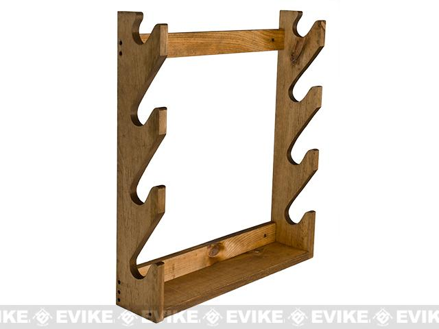 Evans Sports Traditional Solid Wood Rifle / Gun Rack (Capacity: 4 Long Guns)