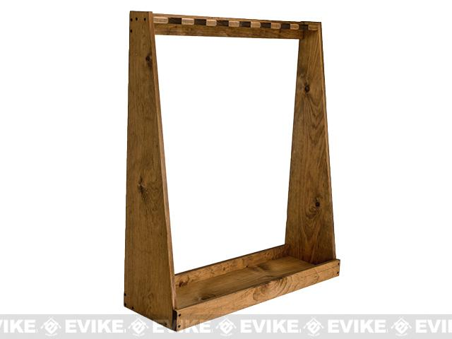 Evans Sports Traditional Solid Wood Rifle / Gun Rack (Capacity: 7 Long Guns)