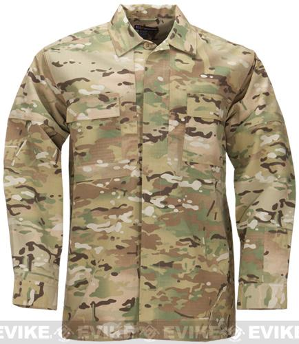 5.11 Tactical Ripstop TDU Longsleeve Shirt - Multicam (Size: X-Large)