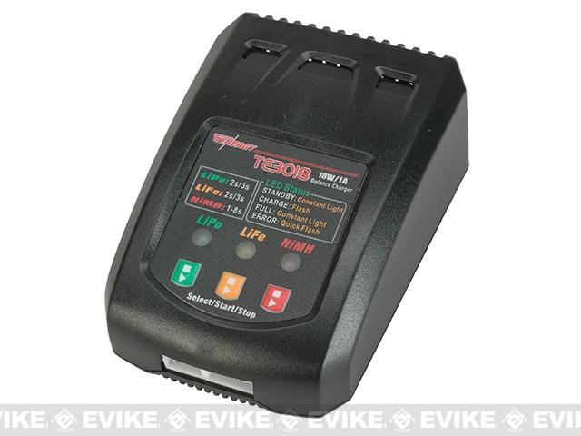 z Tenergy TE3018 18W Compact Balance Charger for LiPo/LiFePO4/NiMH Battery Packs