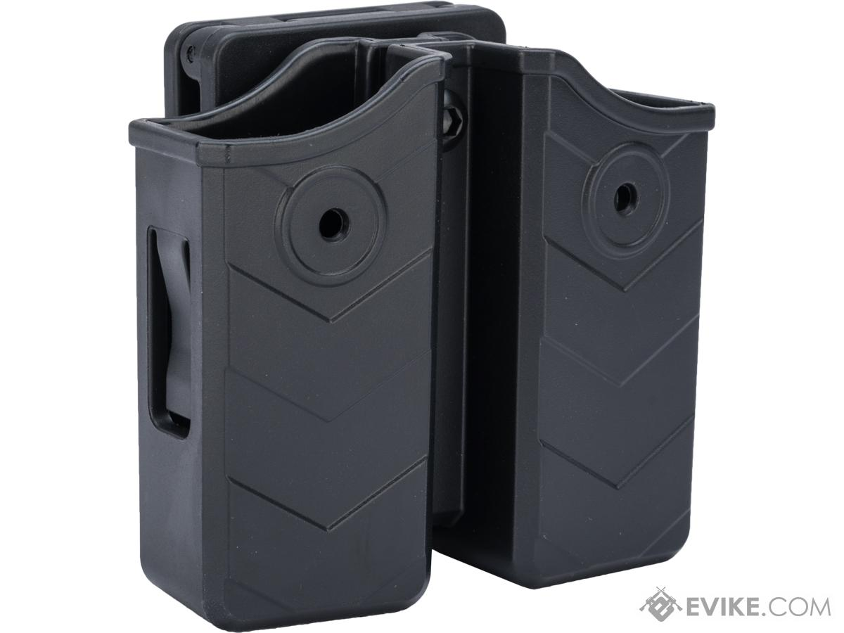 TEGE Universal 9mm / .40 S&W Double Stack Magazine Holster (Model: Belt Clip)