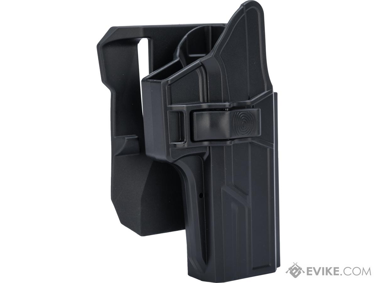 TEGE Injection Molded Hard Shell Pistol Holster (Model: GLOCK 17, 22, 31 Gen 1-5 / Right Hand / Belt Paddle)