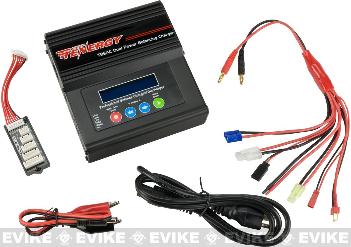 Tenergy TB6AC 50W AC/DC Dual Power Compact Balance Charger for NiMh/NiCD/Li-PO/Li-Fe Batteries