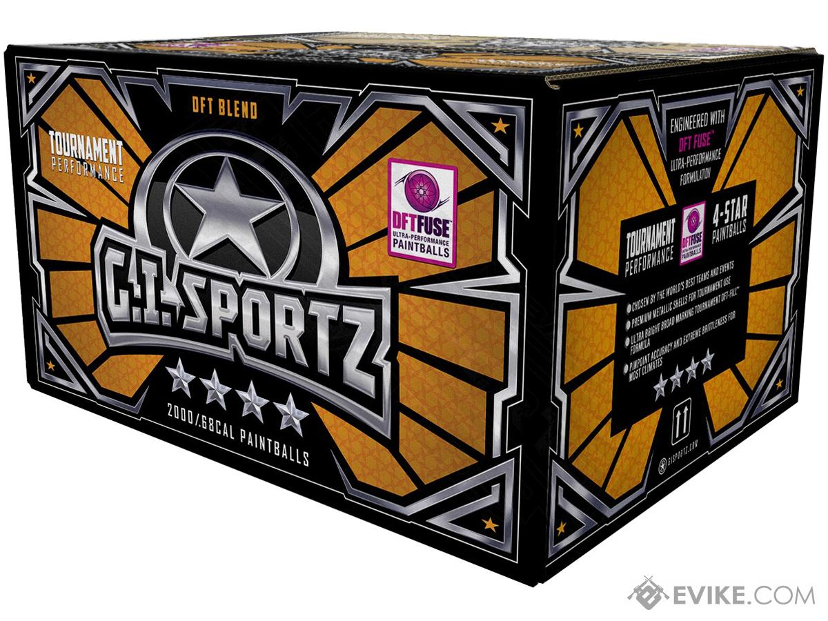 G.I. Sportz Four Star Paintballs - Case of 2000 (Color: Magma Shell / Yellow Fill)