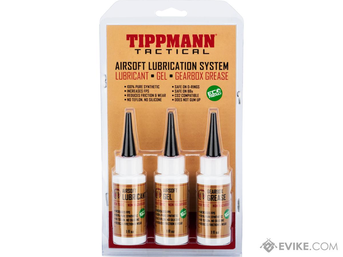 Tippmann Tactical Airsoft Lubrication Kit Oil 1oz, Gel 1oz, Gearbox Grease  1oz