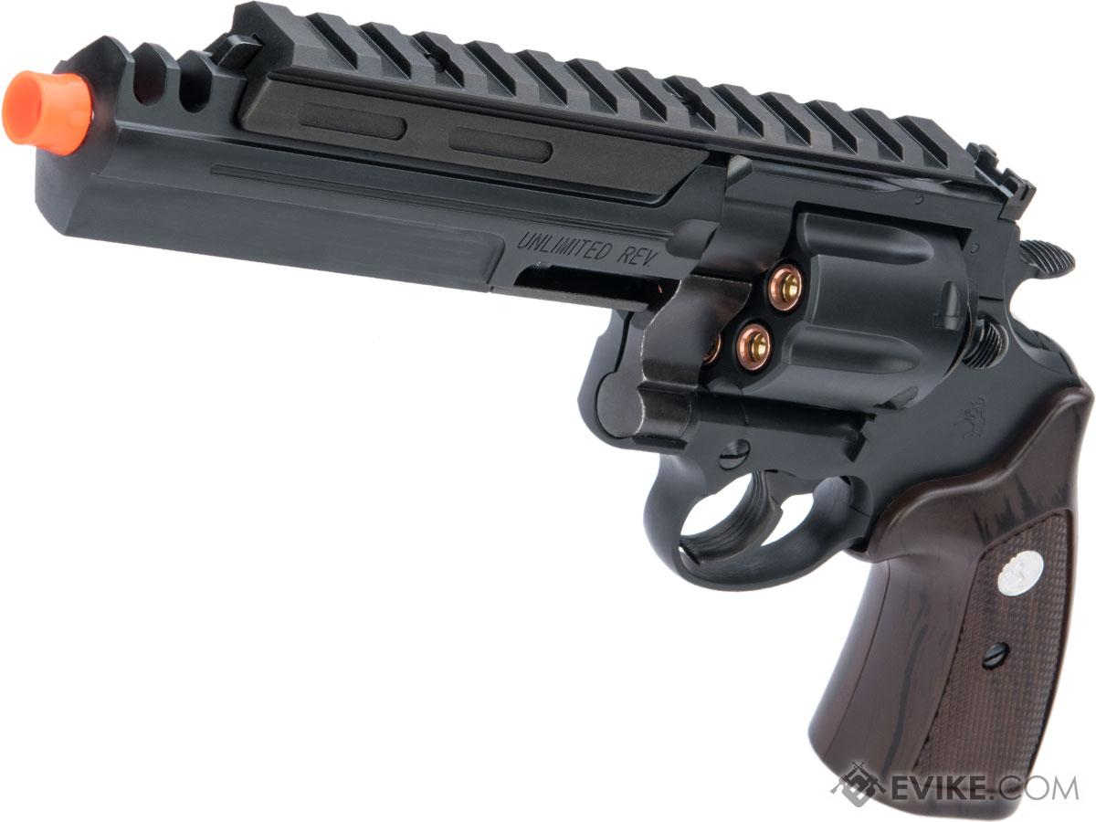 Marushin Colt Unlimited Revolver .44 Gas Powered Airsoft Revolver (Color: Matte Black / ABS)