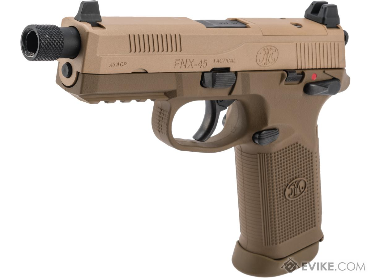 Tokyo Marui FN Herstal Licensed FNX-45 Tactical Airsoft Gas Blowback Pistol (Color: Tan)