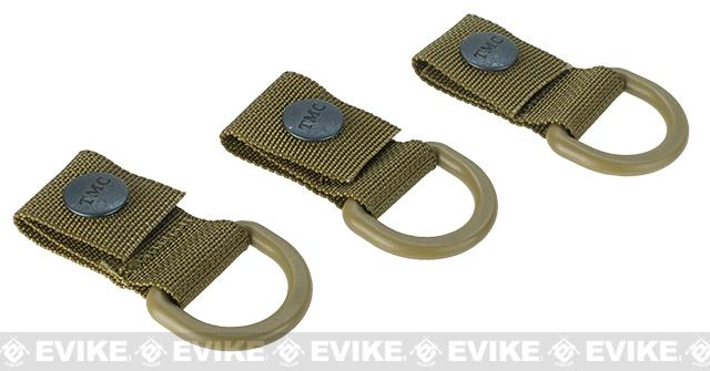 TMC MOLLE Shackle 3-Pack Short Type B - Khaki