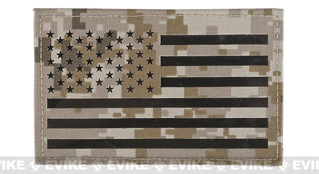 Avengers IR Reflective XL American Flag Patch - Left (AOR1)