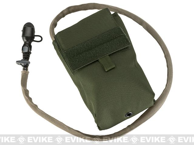 TMC 27oz Tactical MOLLE Double-Insulated Hydration Pouch with Bladder (Color: Olive Drab)