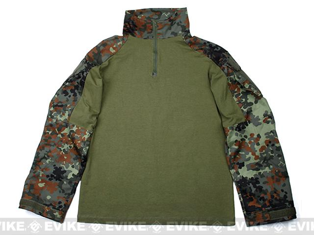 1/4 Zip Tactical Combat Shirt (Color: Flektarn / Small)