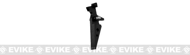 Retro Arms CZ Custom CNC Aluminum Trigger for M4 / M16 Series Airsoft AEG Rifles (Color: Black)