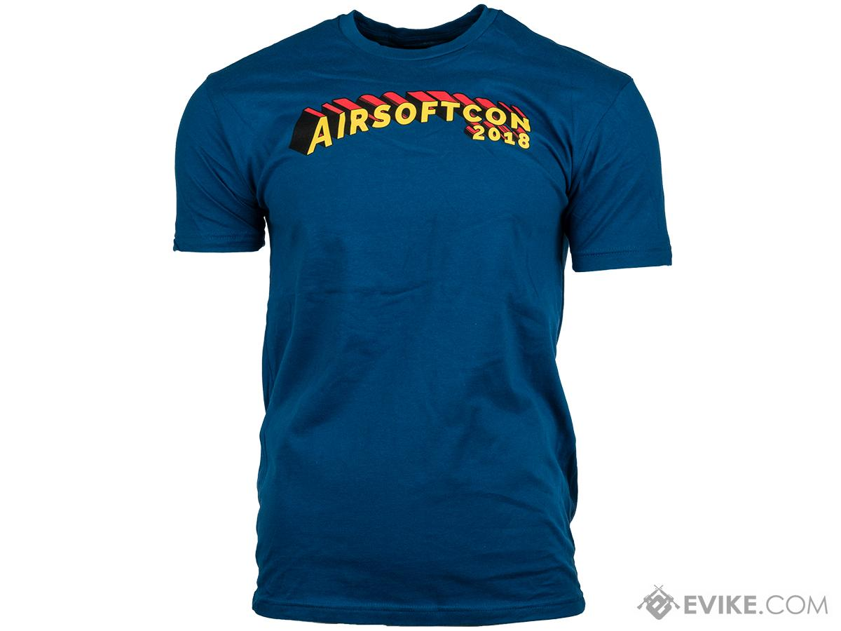 Evike.com AirsoftCON 2018 Graphic Tee (Size: Blue / Small)