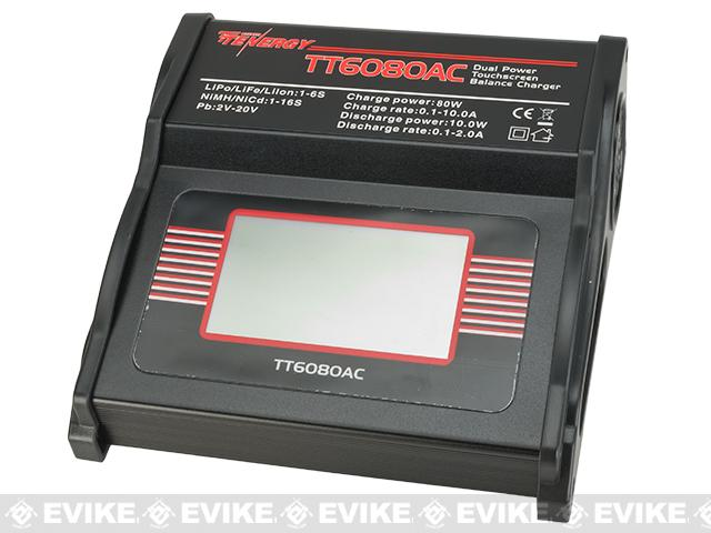 z Tenergy TT6080AC 80W AC/DC Balance Charger with Touch Screen LCD for NiMH/NiCd/LiPo/Li-ion/LiFePO4