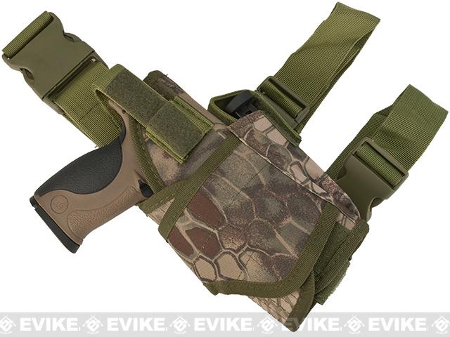 Matrix Tornado Universal Tactical Thigh / Drop Leg Holster (Color: Forest Serpent / Right)