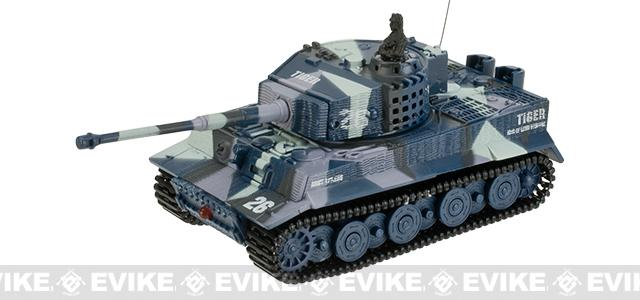 Armor Corps 1:72 Scale RC Battle Tank - Tiger (Color: Blue Camo)