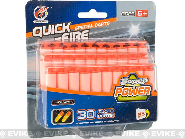 Super Power Strike Elite Universal Suction Darts - 30 Pack
