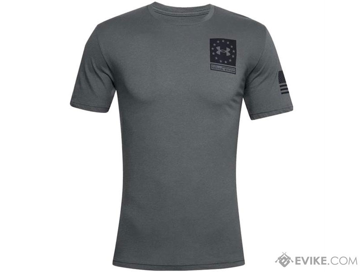Under Armour Men's UA Freedom Freedom Snake T-Shirt (Color: Gray / Medium)