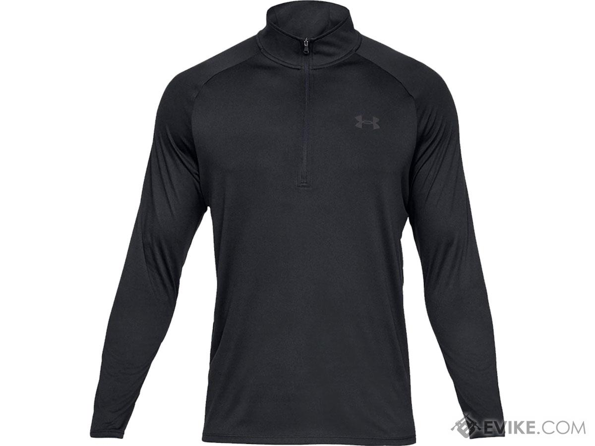 Under Armour Men's Tech 2.0 Half-Zip Long Sleeve Training Shirt (Color: Black / X-Large)