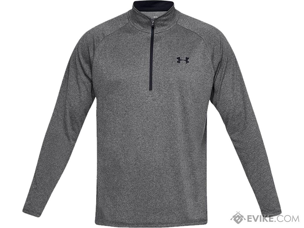 Under Armour Men's Tech 2.0 Half-Zip Long Sleeve Training Shirt (Color: Grey / Small)