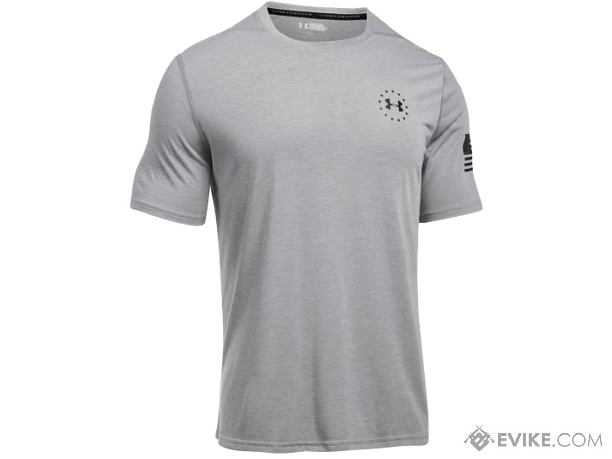Under Armour UA Freedom Threadborne™ Siro Short Sleeve (Color: True Gray Heather - Small)