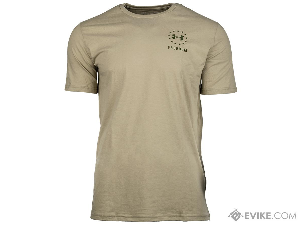 Under Armour Men's UA Freedom Logo T-Shirt (Color: City Khaki / Large)