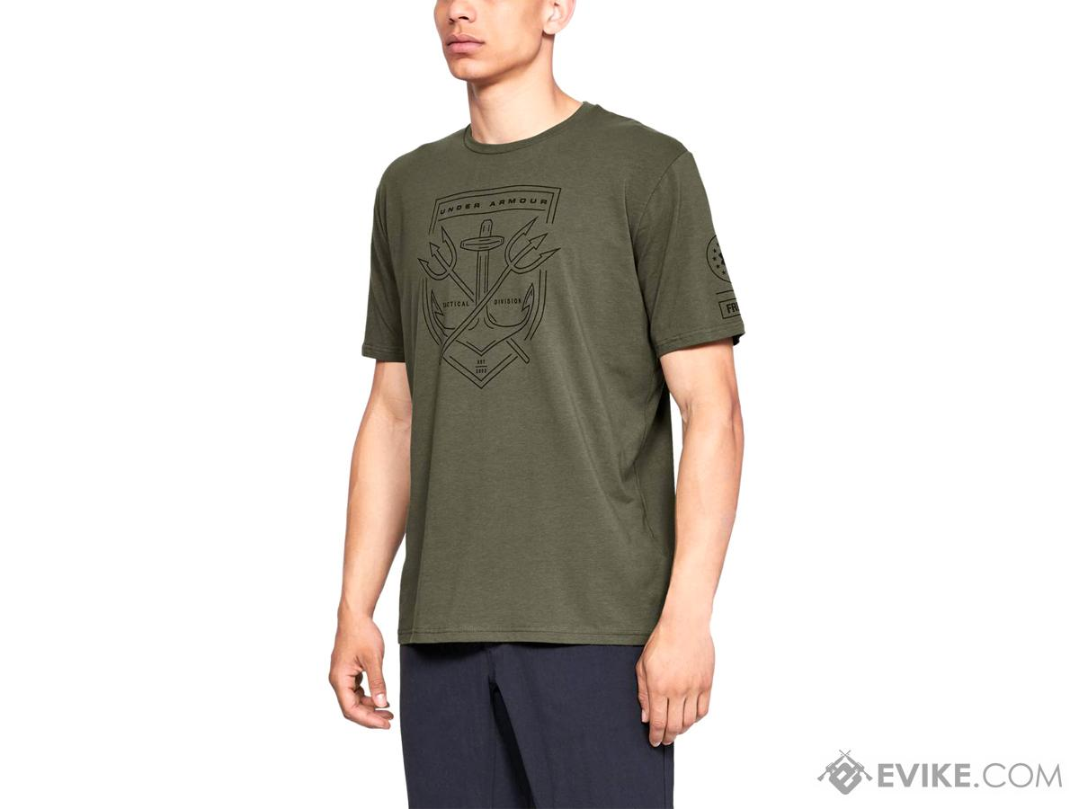 Under Armour Men's UA Tactical Division T-Shirt (Color: Marine OD Green / Medium)