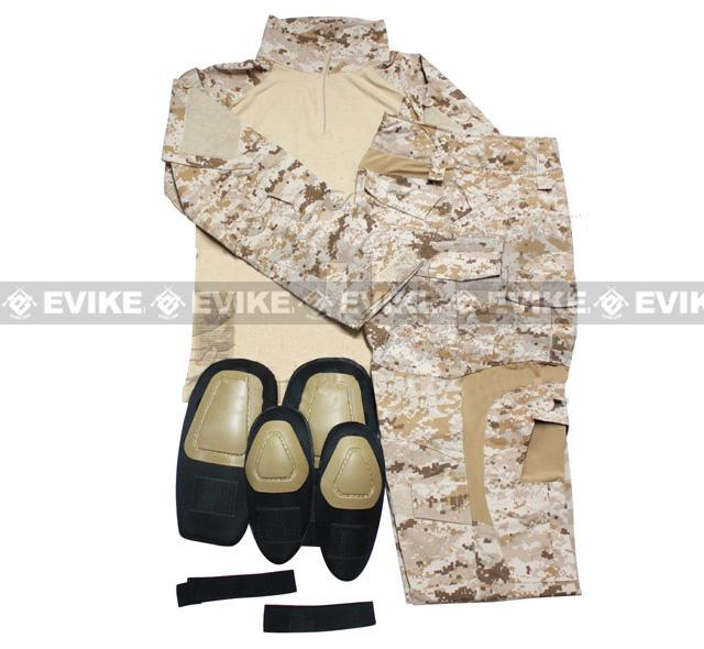 Emerson BDU Uniform Set with Integrated Knee and Elbow Pads - Digital Desert Marpart (Size: Small)