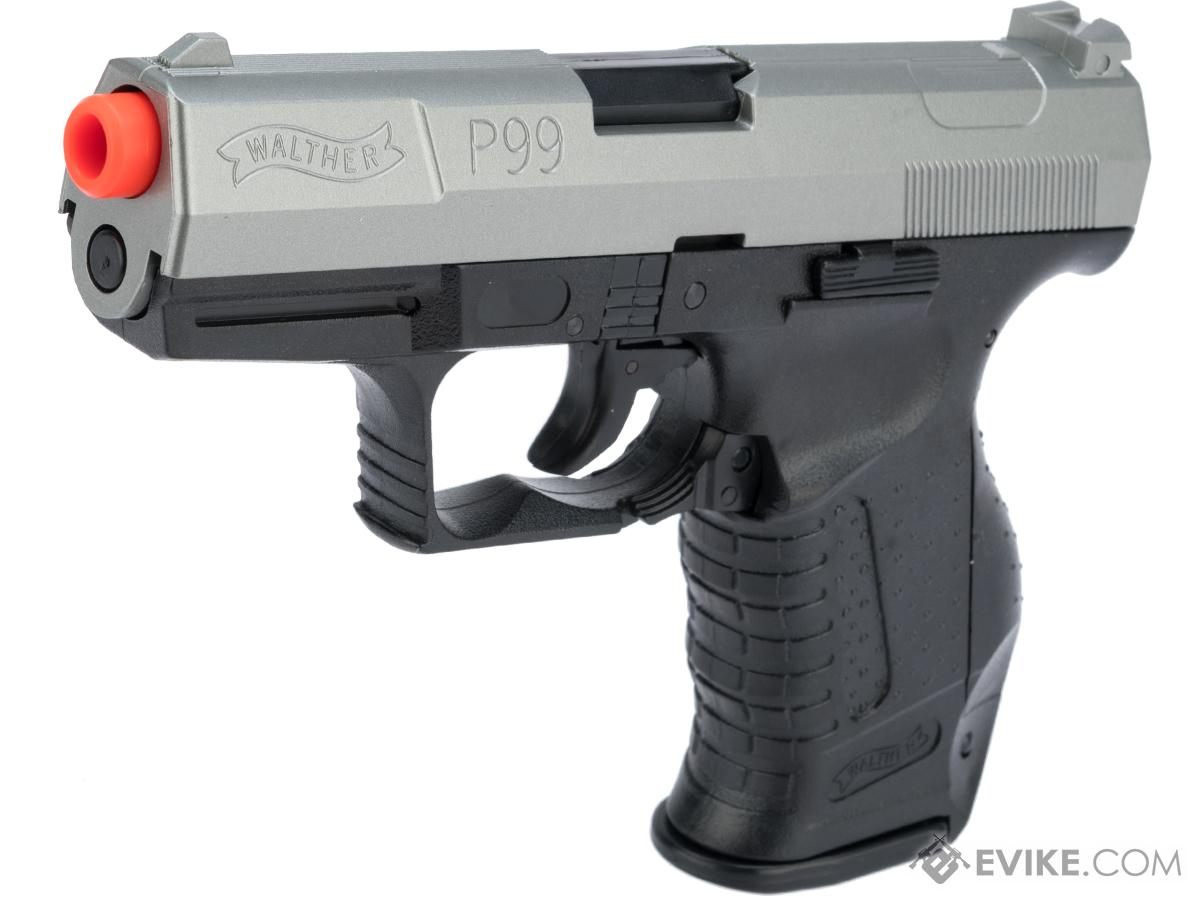 Walther Licensed Two-Tone P99 Airsoft Spring Pistol Action Kit w/ 6 Gel Target