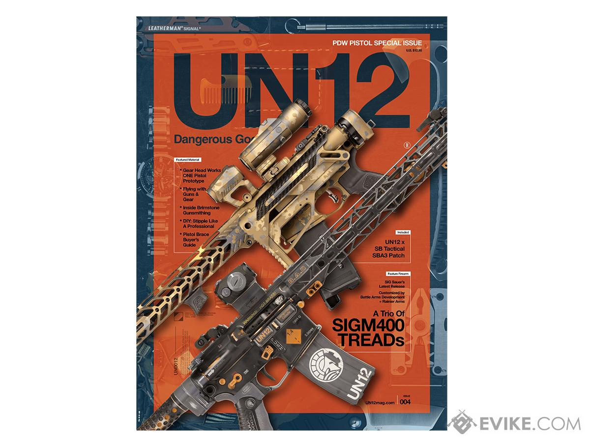 UN12 Magazine with Limited Edition UN12 x SB Tactical SBA3 Morale Patch (Issue: 004)