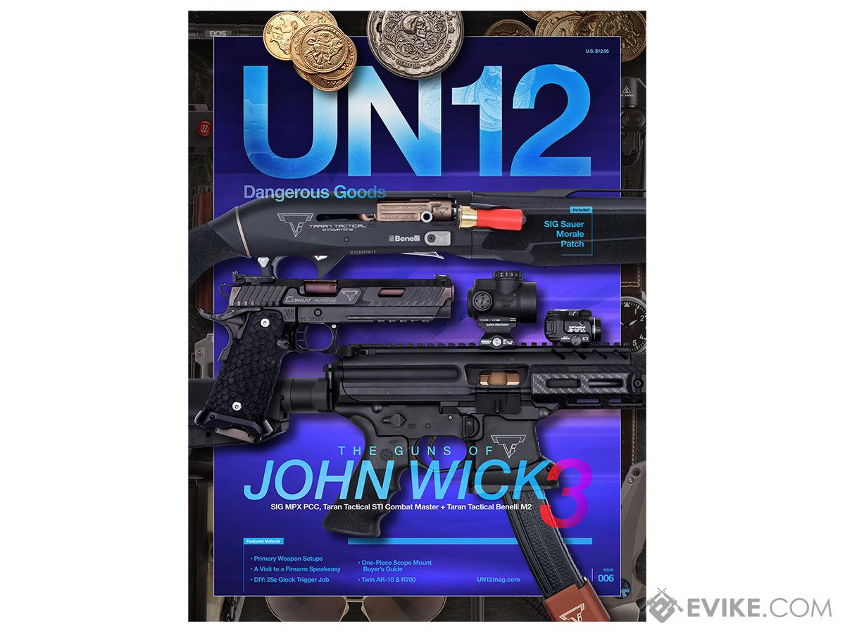 Un12 Magazine With Limited Edition John Wick 3 Gun Morale Patch Issue 006 More Dvd Books Evike Com Airsoft Superstore