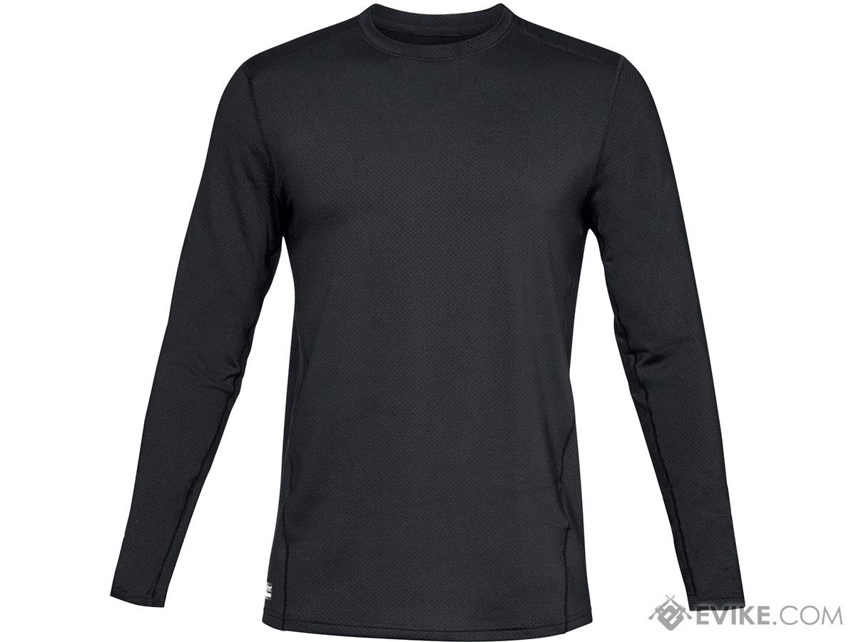 Under Armour Men's UA Tactical Reactor Base Crew Long Sleeve Cold Weather Shirt (Color: Black / Medium)