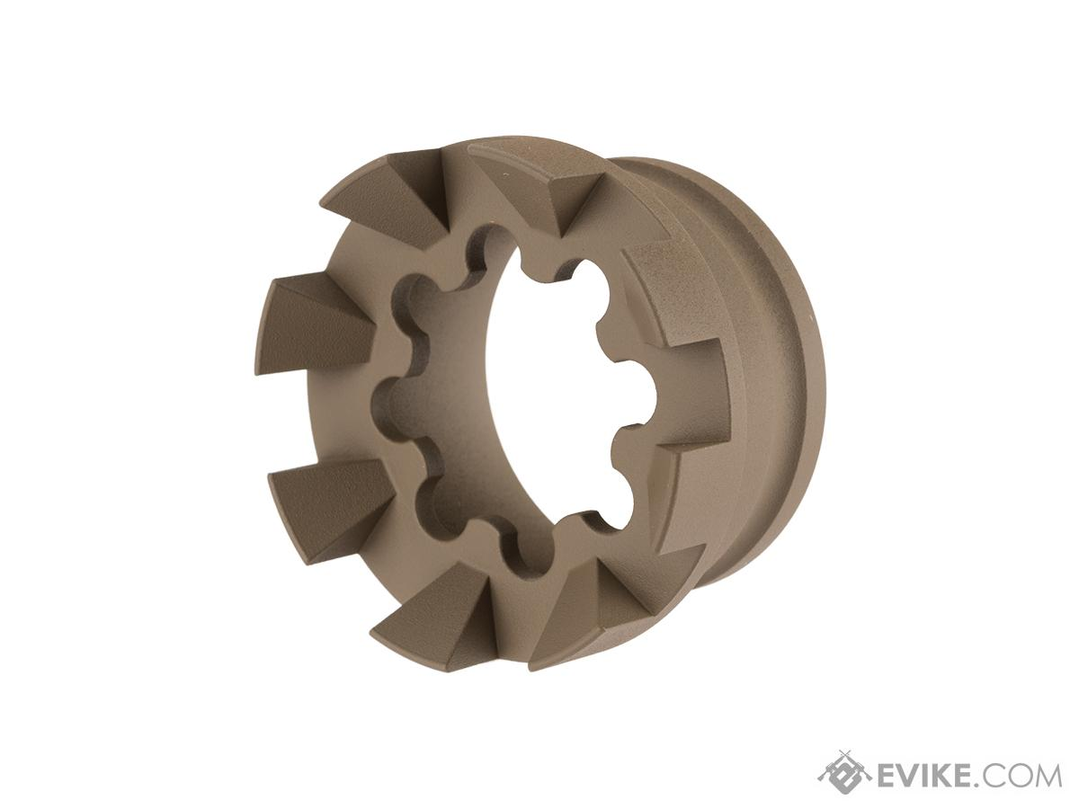Unique AR Sprocket Handguard End Cap with Spikes (Color: Flat Dark Earth)