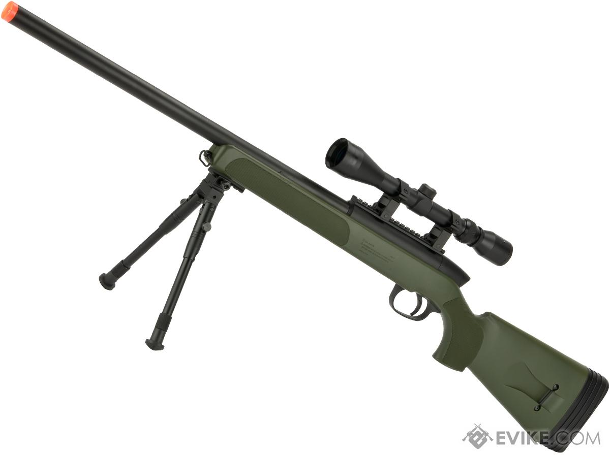 Gen 5 UTG APS2 Airsoft Master Sniper Rifle w/ Bipod - OD Green (Package: Rifle & Bipod Only)