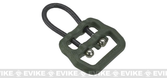 Blue Force Gear Molded Universal Wire Loop for 1 and Smaller Slings (Color: OD Green)
