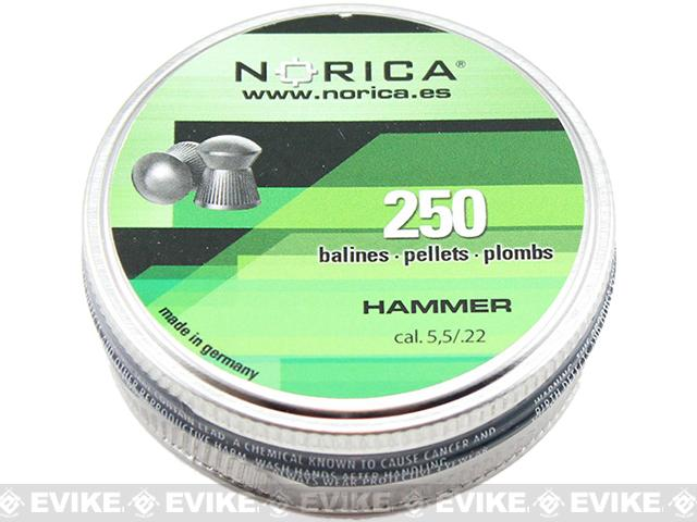 Norica .22 Cal Hammer Pellets - 250 count (FOR AIRGUN USE ONLY)