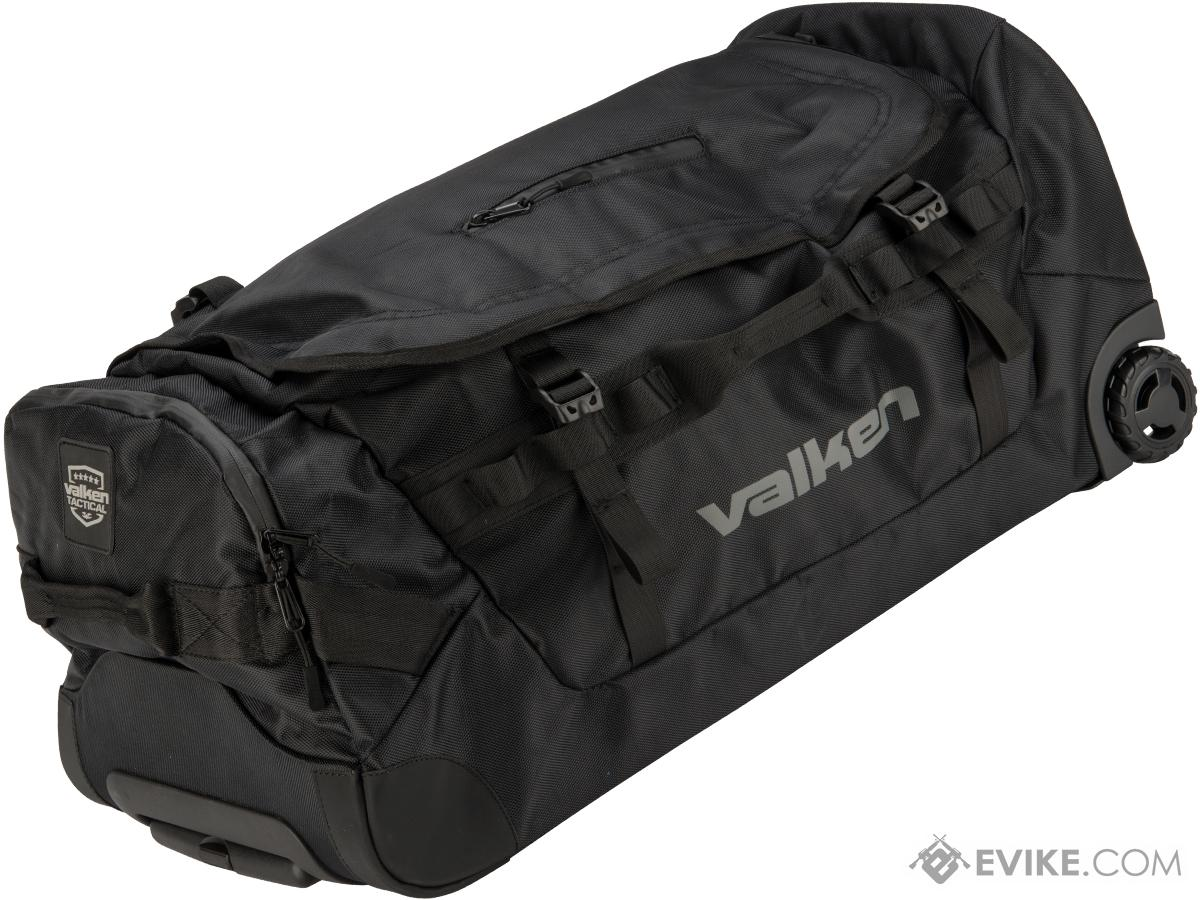 Valken Rolling Tactical Duffel Bag - Black