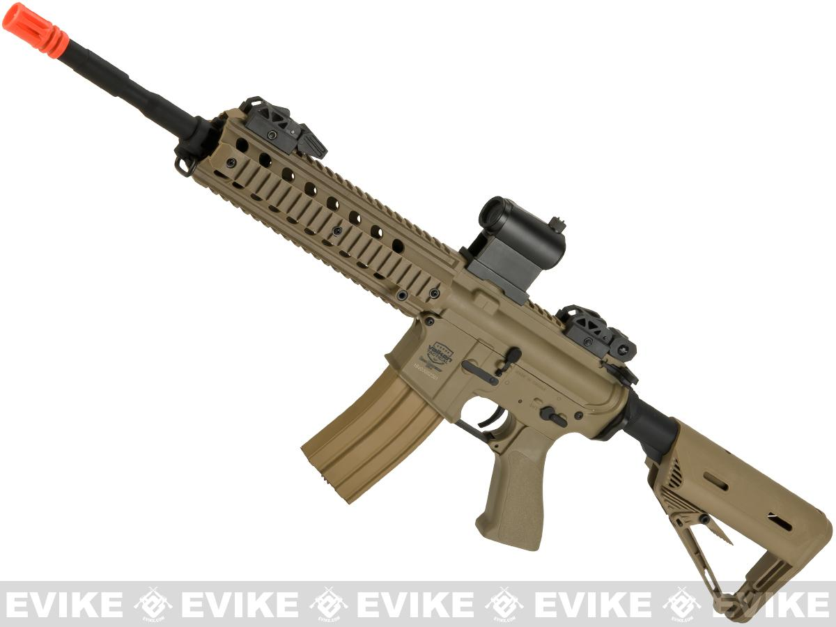 Battle Machine M4 Mod-L V2.0 Airsoft AEG Rifle by Valken (Color: Desert)