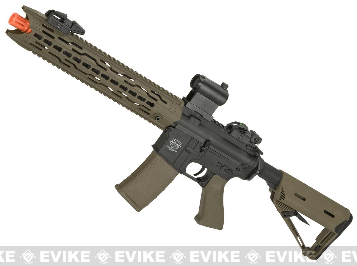Battle Machine M4 TRG-L V2.0 Airsoft AEG Rifle by Valken (Color: Desert)