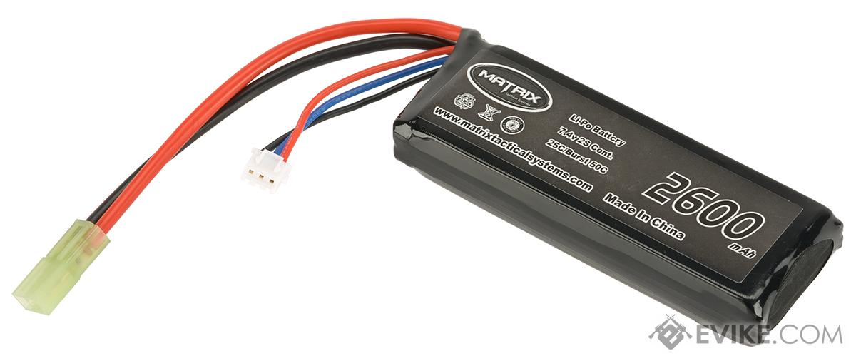 Matrix 7.4V 25C 2600mAh  High Performance Airsoft LiPO Battery Pack