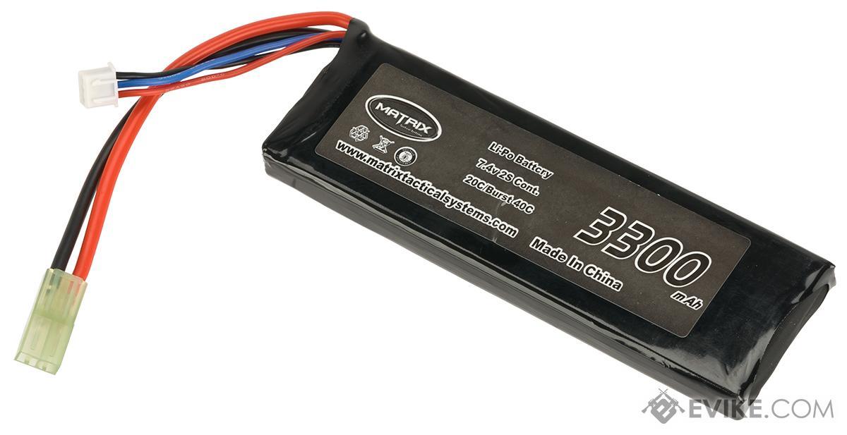 Matrix 7.4V 20C 3300mAh  High Performance Airsoft LiPO Battery Pack