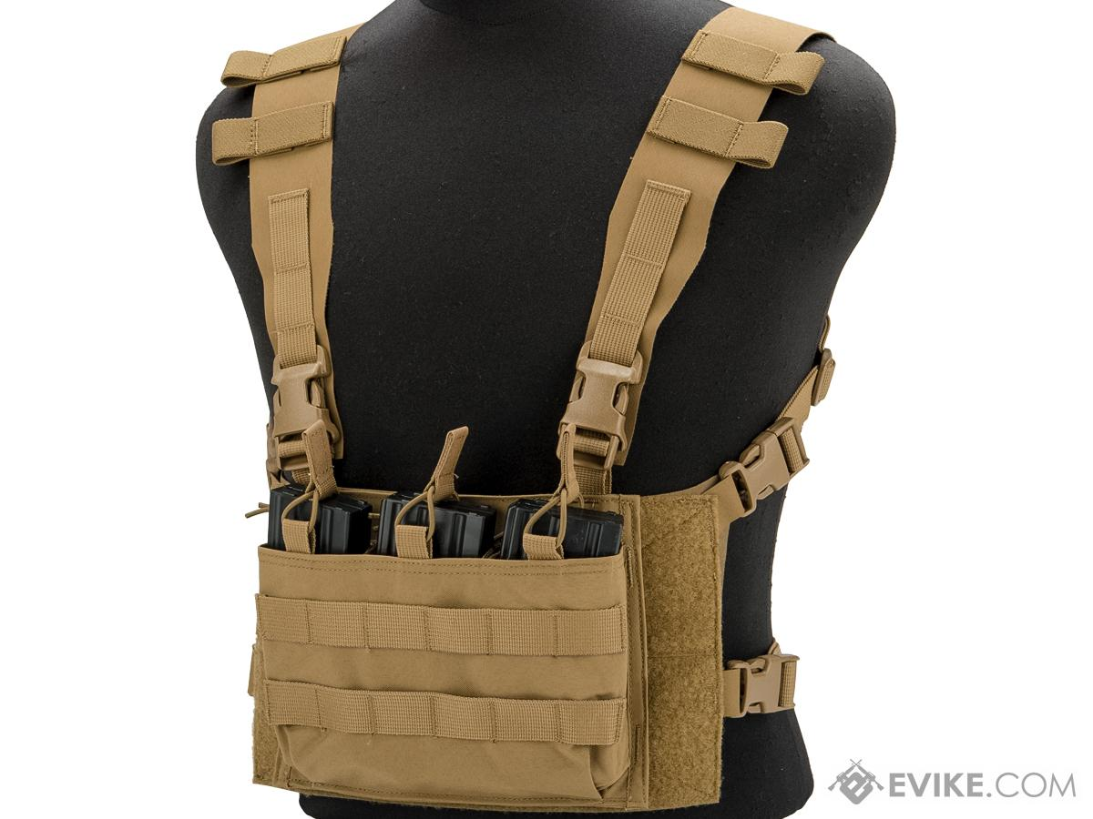 Mayflower by Velocity Systems ULTRAcomp 2 H-Harness Placard Chest Rig Adapter (Size: Large w/ Short Waist Belt / Coyote Brown)