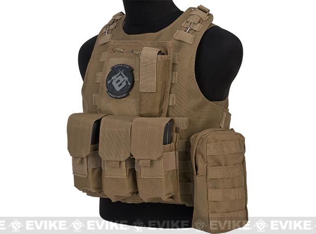 Avengers MOD-II Quick Release Body Armor Vest - Coyote Brown