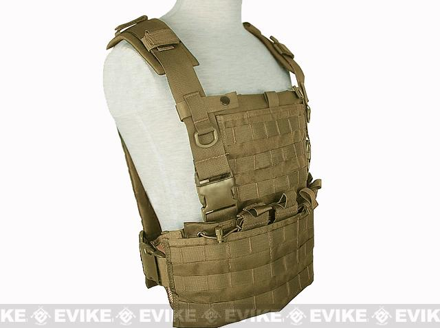 Matrix MOLLE Ready Tactical Commando Chest Rig Vest - Tan