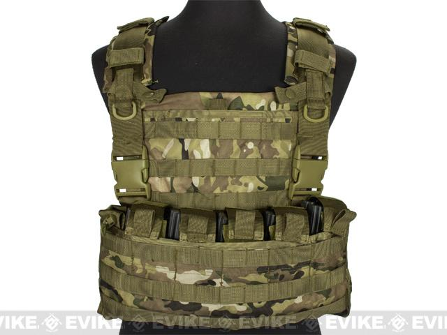 Matrix MOLLE Ready Tactical Commando Chest Rig Vest - Camo