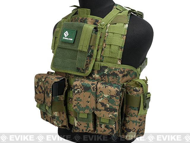 Matrix Special Operations RRV Style Chest Rig - Digital Woodland