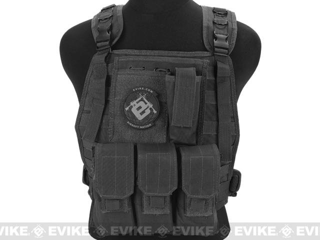 Avengers Tactical Spec  OPS MOLLE Plate Carrier / Load Bearing Vest (Color:  Black)