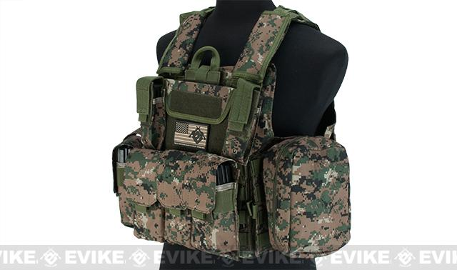 USMC Style C.I.R.A.S. Type Force Recon Tactical Vest (Color: Digital Woodland)