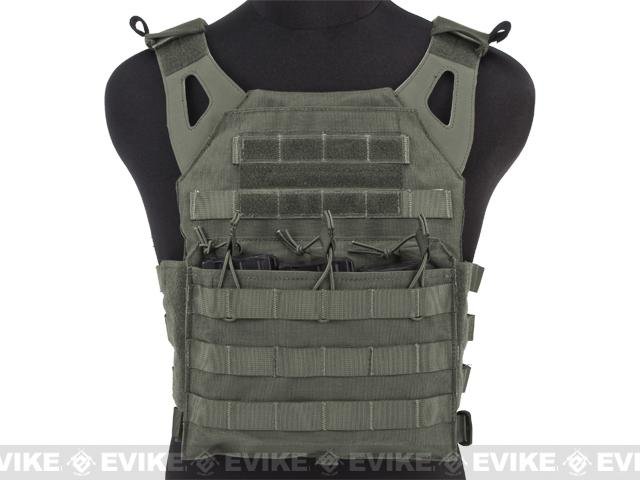 Avengers Compact Airsoft High Speed JPC Plate Carrier (Color: Foliage Green / Adult)