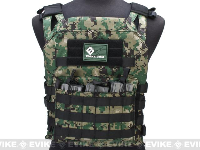 Avengers Compact Operator Airsoft High Speed JPC Plate Carrier - Digital Woodland (X-Large)